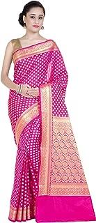 Chandrakala Women's Kataan Silk Blend Indian Ethnic Banarasi Saree with Unstitched Blousepiece (1250)