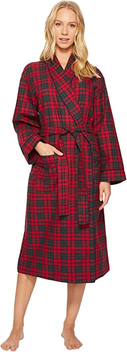 BedHead - Long Sleeve Flannel Long Robe
