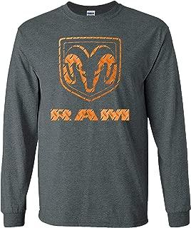 Dodge RAM Orange and Black Logo Adult Long Sleeve Shirt