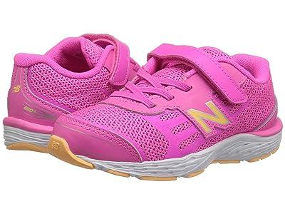 New Balance Kids YA680v5 (Little Kid/Big Kid) (Light Peony/Light Mango) Girls Shoes