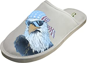 Cotton Patriotic Eagle House Slippers Babouches Baboosh Chinela Slipper