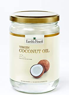 Earth's Finest Virgin Coconut Oil - 500ml | Cold-Pressed Coconut Oil for Cooking, Hair, Body & Massage | Pure & Unrefined ...