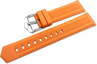 Quick Release Silicone 18mm 20mm 22mmWatch Bands for men women -Universal Soft Rubber Waterproof Sports Straps(Orange, 22mm)