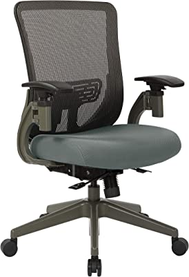 SPACE Seating Grey Vertical Back Manager's Chair with Mesh Seat