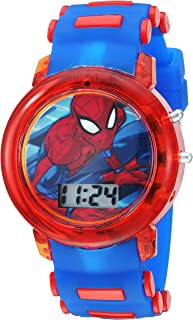 Boys' Quartz Watch with Plastic Strap, Blue, 20 (Model:...