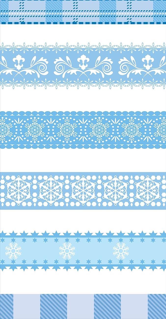 ドナウ川権利を与える署名ポスター ウォールステッカー 長方形 シール式ステッカー 飾り 30×16cm Ssize 壁 インテリア おしゃれ 剥がせる wall sticker poster フラワー チェック?ボーダー 水色 結晶 雪 005020