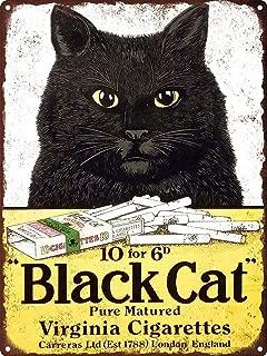 GRYD Metal Sign 8x12 Inches Black Cat Virginia Cigarettes Man Cave Metal Sign Repro 8x12