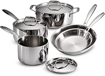 Tramontina Gourmet 18/10 Stainless Steel 8-Piece Cookware Set