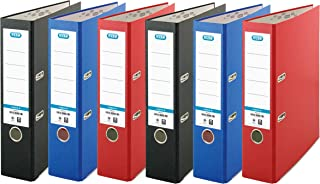 Elba, A4 Lever Arch Files, Red/Black/Blue, 6 Folders