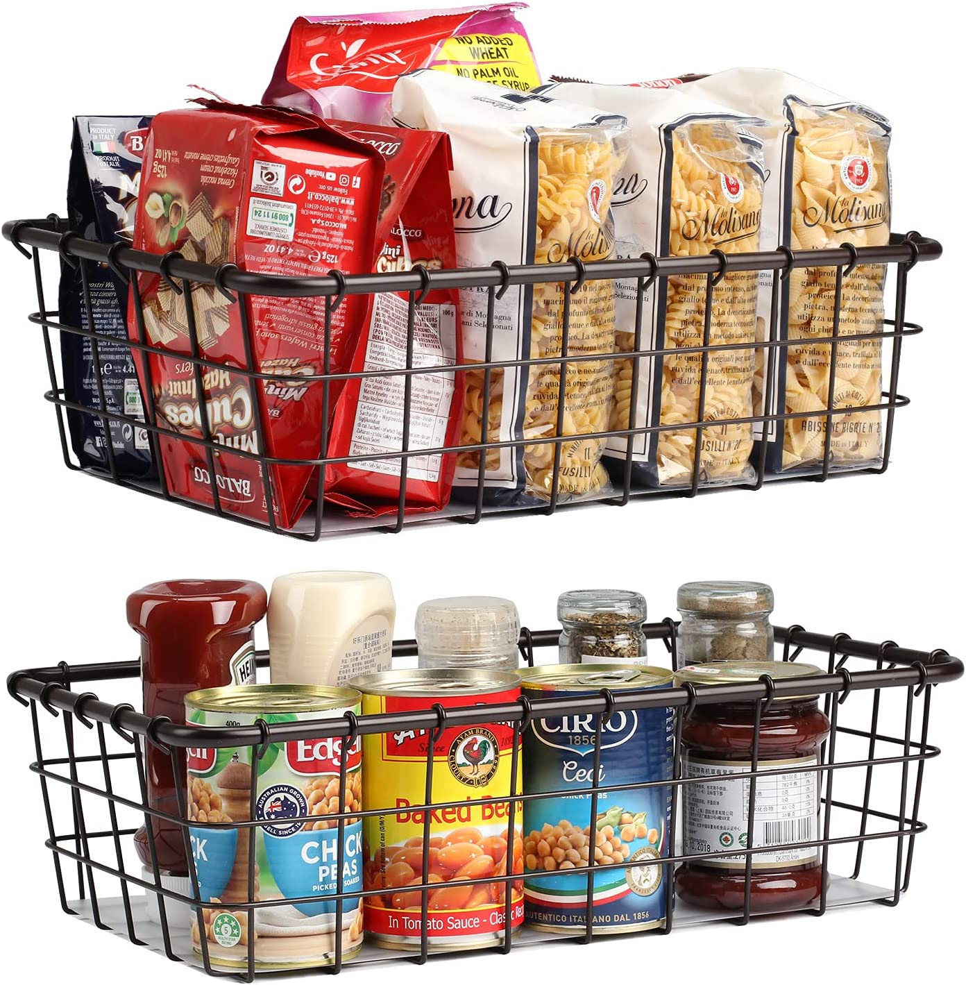 Wire Cheap mail order specialty store Baskets for Storage Pantry Vegetable Produce Basket Pack 2 San Antonio Mall