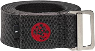 Manduka Align Yoga Strap – Strong, Durable Cotton Webbing with Adjustable Buckle for Secure, Slip-Free Support for Stretch...