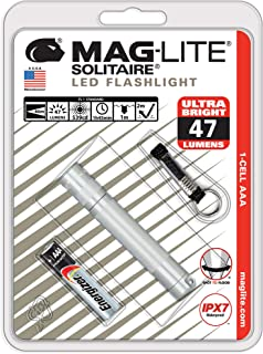 Maglite Solitaire LED 1-Cell AAA Flashlight Silver