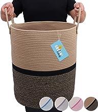 OrganiHaus XL Extra Large Cotton Rope Basket | 15x18 Nursery Storage Basket with Long Handles |Nursery Decor Organizer Bas...