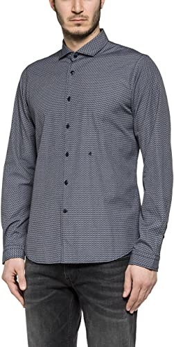 Replay Veste gris pour homme 100% coton