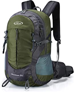 G4Free 35L Hiking Backpack Water Resistant Outdoor Sports Travel Daypack Lightweight with Rain Cover for Women Men