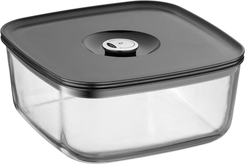 WMF Depot Fresh Vorratsdose 22 x 22 cm rechteckig, Glas, Vorratsglas, luftdichter Aroma-Deckel, Frische-Ventil, Frischhaltedose zum Vorbereiten, Aufbewahren und Servieren B00BWP8VHG