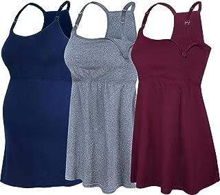 SUIEK Women's Nursing Tank Top Cami Maternity Bra Breastfeeding Clothes