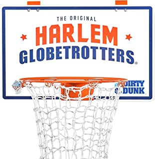 The Dunk Collection Dirty Dunk Over-The-Door Basketball Hoop Laundry Hamper, Harlem Globetrotters (23)