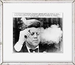 INFINITE PHOTOGRAPHS Photo: President John F. Kennedy, Smoking Small Cigar, Democratic Fundraiser, Boston, 1963 Size: 8