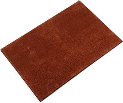 "Jorviz Carpet Stair Treads Landing Mat Tape Free Self-Adhesive Non Slip Skid Resistant Indoor Doormat Area Rug Floor Mat for Bathroom, Front, Inside and Entrance Washable Brown 24"" X 36"""