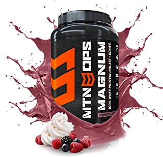 MTN OPS Magnum 100% Whey Isolate Protein Powder - 32 Servings, Berries & Cream
