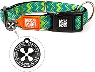 Max & Molly Vintage Smart Id Collar  Comfortable   Odor Free Neoprene  Smart Id Tag   Lost Pet Protection Program   Extrao...