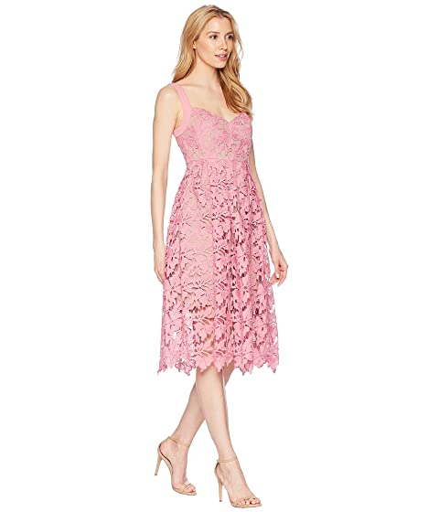 Lace Midi Dress With Sweetheart Neckline by Donna Morgan
