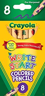 Crayola 8 Write Start Colored Pencils (3 4 Length)