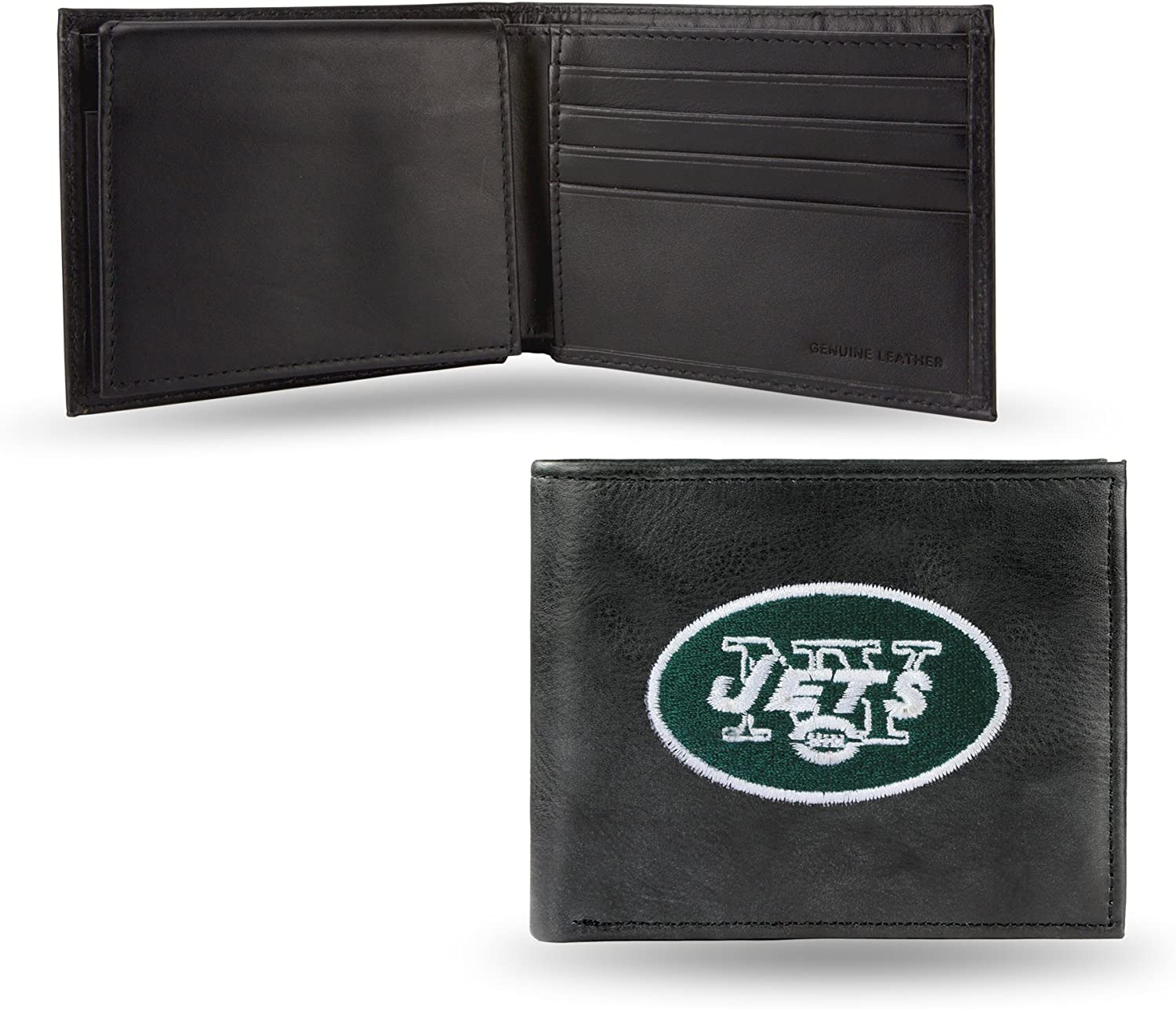 Limited price NFL New York Jets Special price Leather Billfold Embroidered Wallet