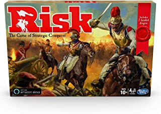 Hasbro Gaming Risk Game with Dragon; for Use with Amazon Alexa; Strategy Board Game Ages 10 and Up; with Special Dragon Token; Amazon Exclusive