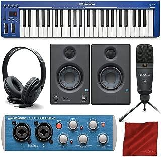 PreSonus PS49 USB 2.0 MIDI Keyboard with Presonus AudioBox USB 96 Audio Recording Interface, Studio One Artist 3 DAW Software for Mac & Windows, and Premium Music Creation Bundle