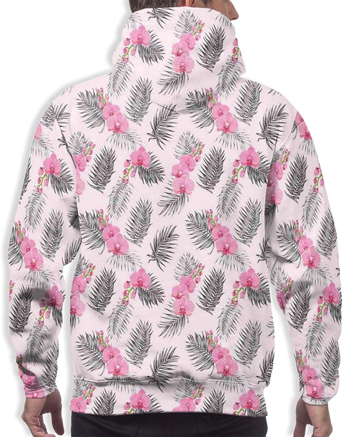 Men's Hoodies Sweatshirts,Paradise Beach with Sand and Sea Water Summer Exotic Nature Sunny Hot Print