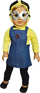 Brittany's My Minion Inspired Outfit Compatible with American Girl Dolls- 18 Inch Halloween Costume