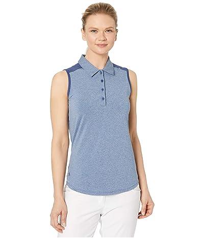 adidas Golf Ultimate365 Sleeveless Polo (Tech Indigo Melange) Women
