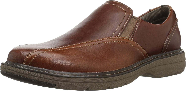 Clarks Herren Cushox, Step, Dark Tan Leather, 39.5 EU EU  zurückhaltende Luxus-Konnotation