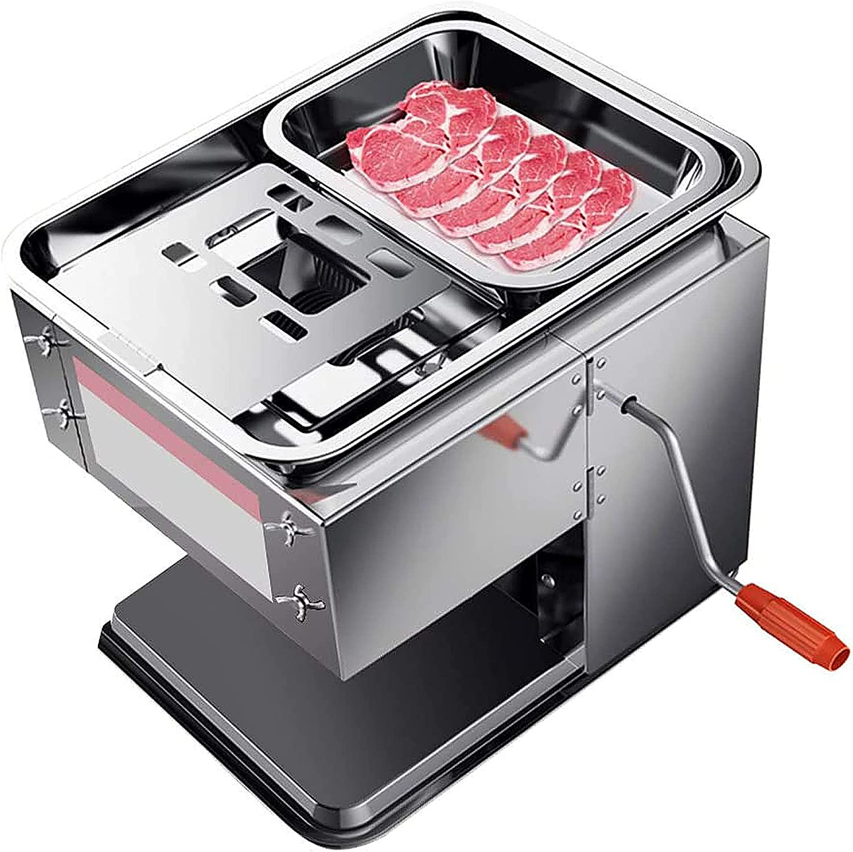 Rebanadora de carne comercial 2 en 1, cortadora de alimentos eléctrica de 850 W, máquina cortadora de carne manual, cuchilla de acero inoxidable, CE FCC CCC