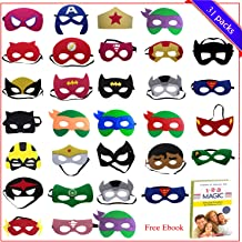 Birthday Party Favors for Kids   31 Pieces Superhero Masks Kids Party Favors for Boys & Girl   Superhero Birthday Party Supplies Perfect for Children