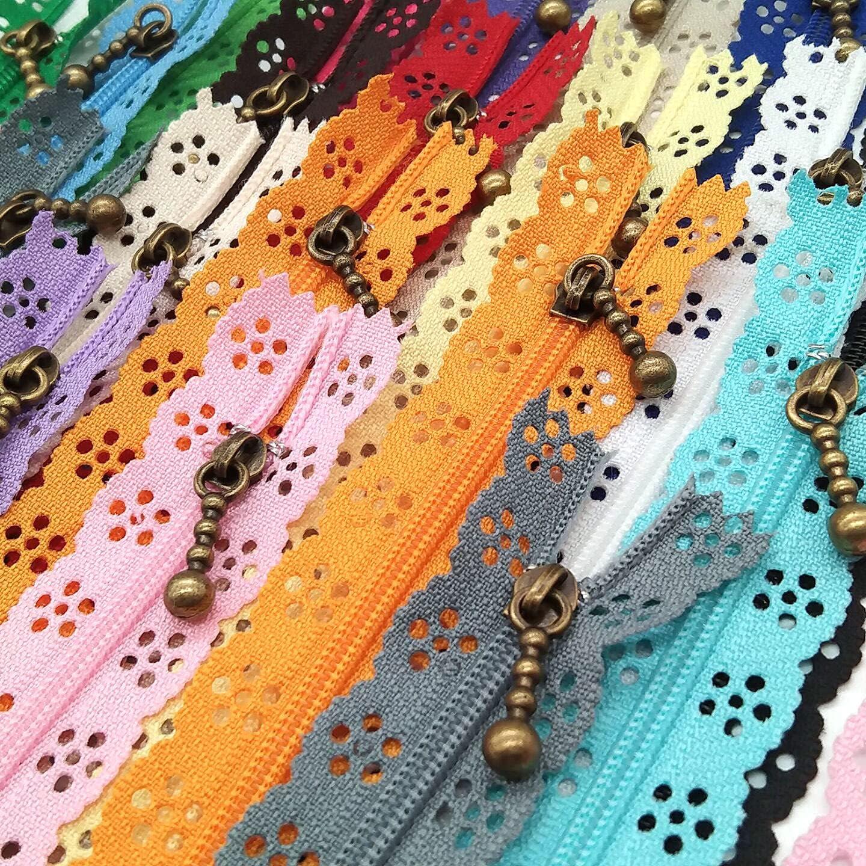 LNKA Lace Zippers Novelty 20pcs Pack Zipper Easy-to-use 3# End Miami Mall DIY Coi Nylon