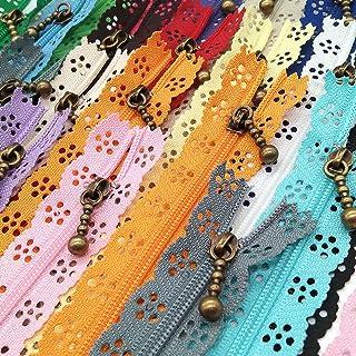 LNKA Zíperes de renda Novidade 20 peças/Pacote 3 # Fim Zíper DIY Bobina de Nylon Zíper Flor para DIY Vestido de Costura Ta...