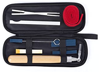 Piano Tuning Kit, Professional Piano Tuner Tools Including Tuning Hammer Mute Wrench Hammer Handle Kit Tools and Case