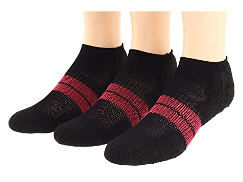 Thorlos 84N Micro Mini 3-Pair Pack Black/Dark Pink Women's Running Socks 7854555