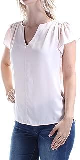Maison Jules Women's Flutter-Sleeve Woven Top