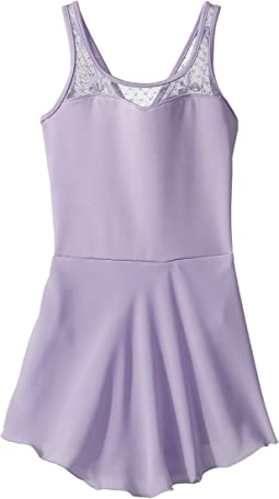 Keyhole Back Bow Mesh Skirted Tank Leotard (Toddler/Little Kids/Big Kids)