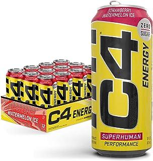Cellucor C4 Original Carbonated Zero Sugar Energy Drink, Pre Workout Drink + Beta Alanine, Sparkling Strawberry Watermelon...