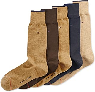Tommy Hilfiger Men's 5 Pair Flat Knit Rayon Blend (Shoe:...