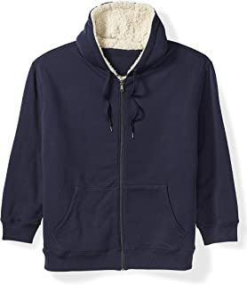Men's Big & Tall Sherpa Lined Full-Zip Hooded Fleece...