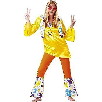 César B350-003 Flower Power - Disfraz de hippie para mujer, talla ...