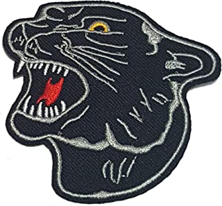 BLACK TIGER PANTHER HEAD BIKER ROCKABILLY Jacket t-shirt Patch Sew Iron on Embroidered