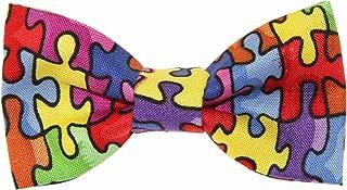 Toddler Boy 3T 4T Puzzle Pieces Clip On Cotton Bow Tie Bowtie