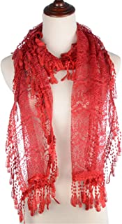 red lace pattern